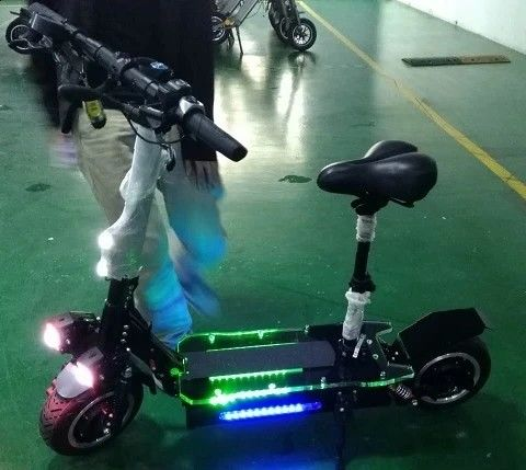 Portable 11 Inch Folding Motorized Scooter , Electric Folding Scooter For Adults